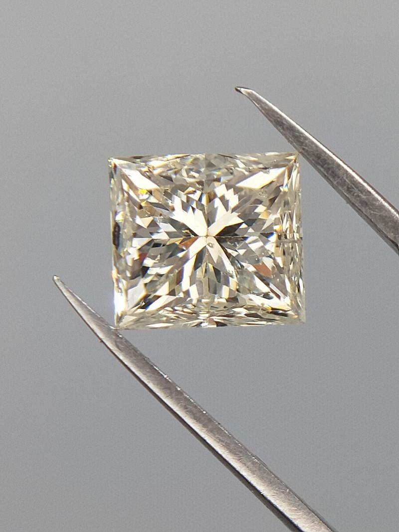 1.03 CTS  , Natural Beauty , Princess Brilliant Cut , Light Yellow Diamond