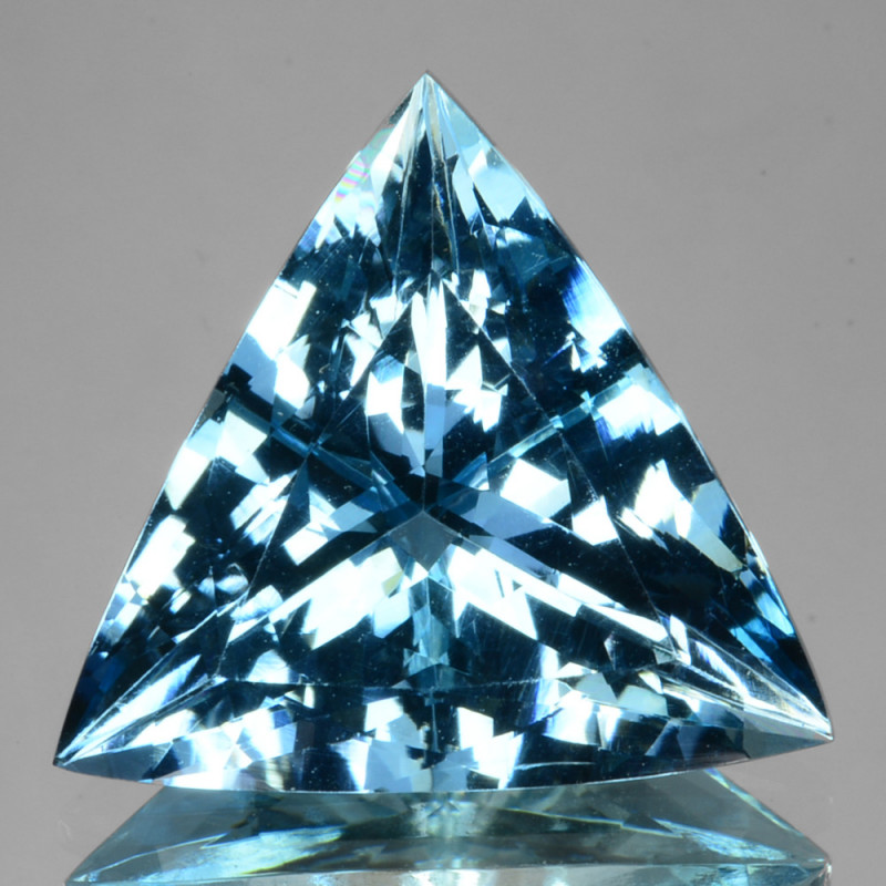 ~GORGEOUS~ 7.23 Cts Santa maria Blue Natural Aquamarine Trillion Brazil