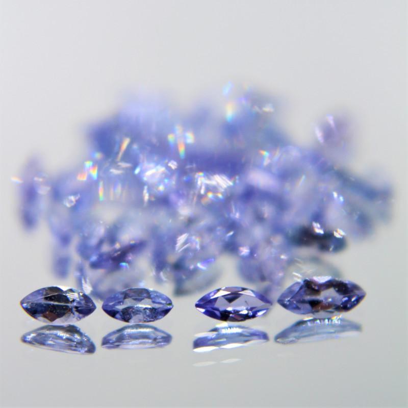 3.80 Cts 50 Pcs Amazing Rare Violet Blue Color Natural Tanzanite Gemstone