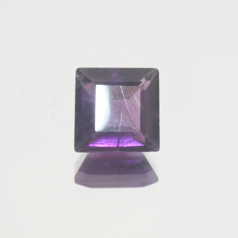 3.1 Ct Amethyst  Faceted Square 9mm.-(SKU 404)