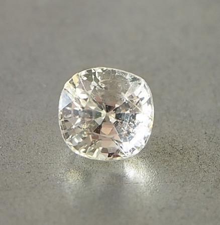 2.08ct unheated light yellow sapphire