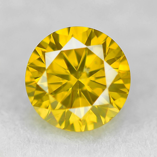 0.08 Cts Sparkling Rare Fancy Vivid Yellow Color Natural Loose Diamond