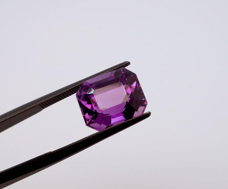 6.08 CT FREE SHIPPING! Custom Fancy Cut Purple Amethyst (Uruguay)