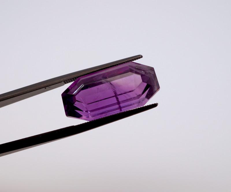 15.03 CT FREE SHIPPING! Custom Fancy Cut Purple Amethyst (Uruguay)