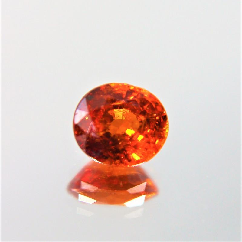 0.96 Cts Mandarin Red Spessartite Garnet Natural Gemstone