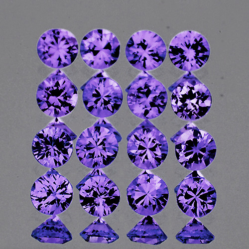 2.40 mm Round 16 pcs 1.10ct Lavender Purple Sapphire [VVS]
