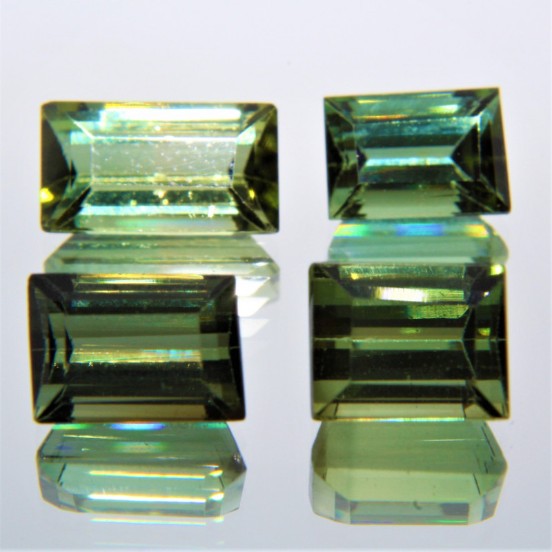 5.67 Cts Unheated Green Color Natural Tourmaline Loose Gemstone