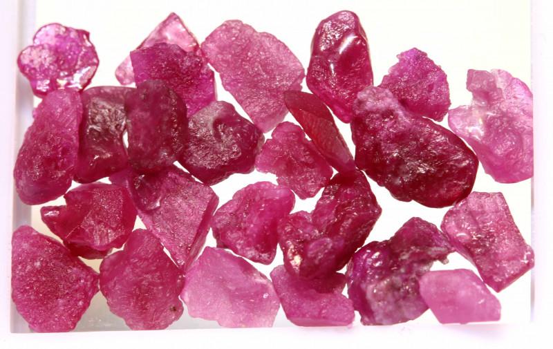 Rough ruby stones