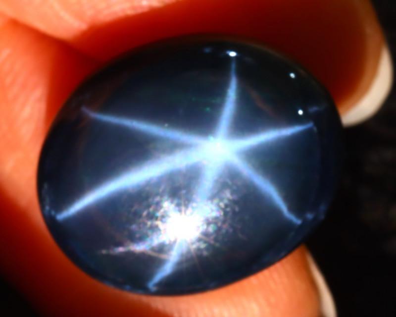 Star Sapphire 21.52Ct Natural 6 Rays Blue Star Sapphire ER67/A52
