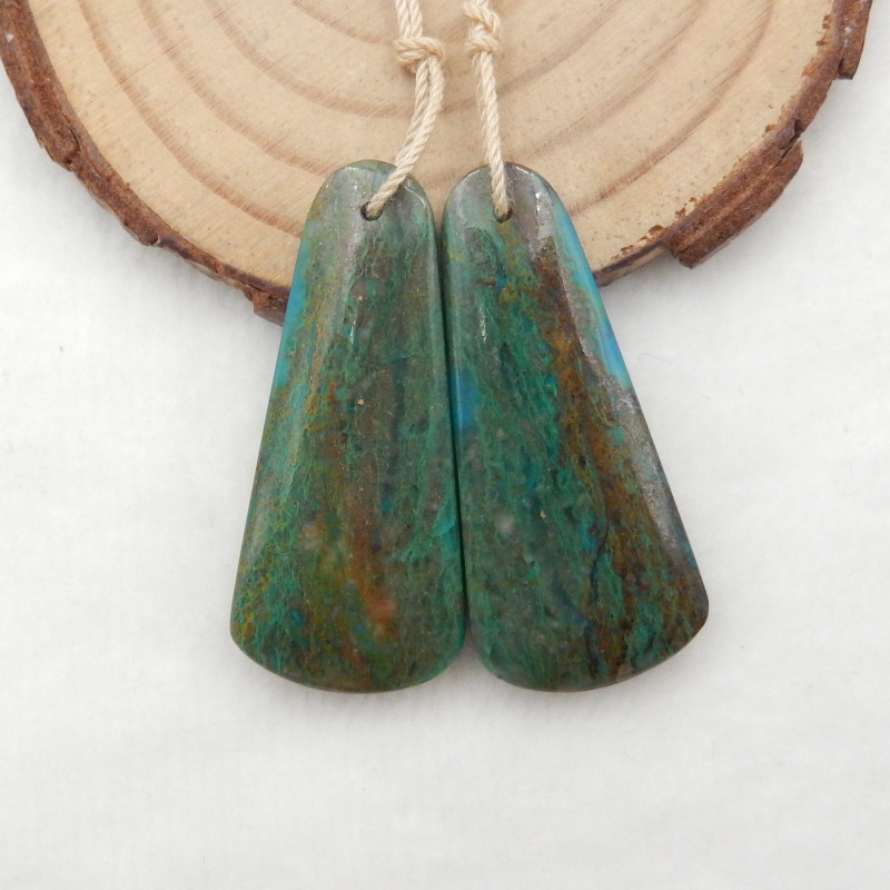 49.5ct Blue Opal Earrings,Natural Blue Opal Earrings ,Healing Stone G895