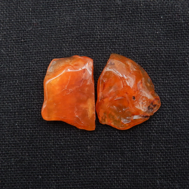 35.5cts 2pcs Agate Nugget Cabochons ,Agate Cabochon Pair G876