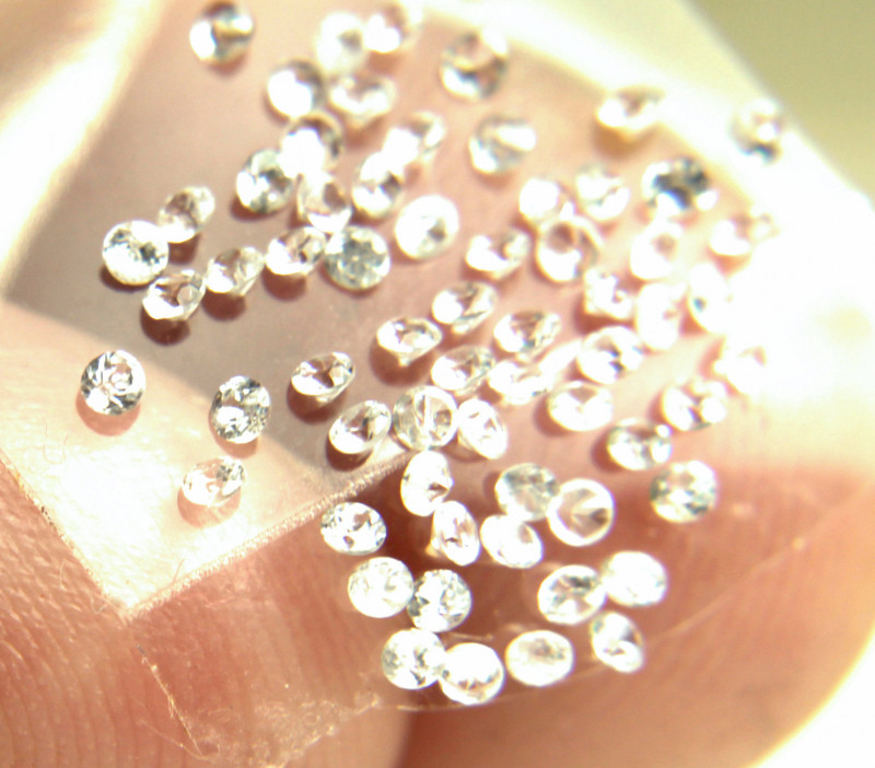 1.12 Tcw. White Southeast Asian Zircon Accents - 1.5mm - 40 pcs.