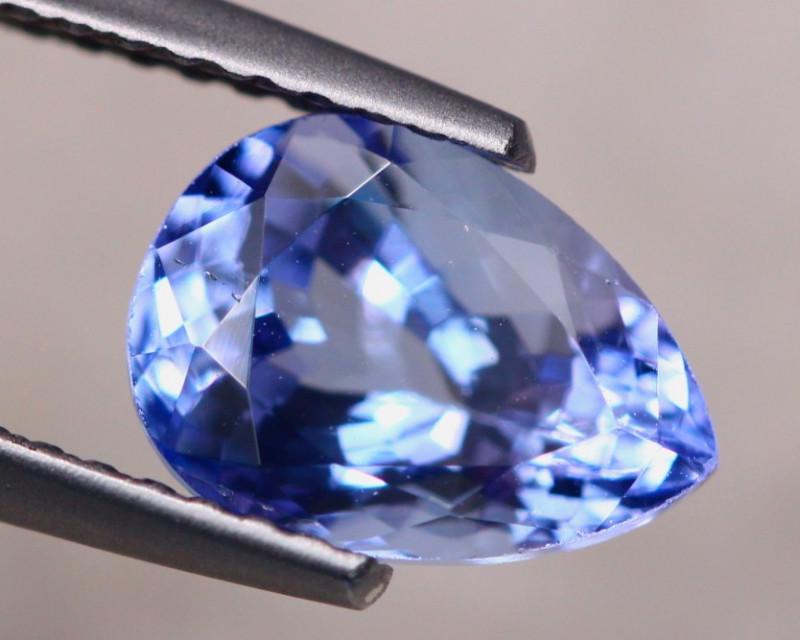 2.11Ct Natural Violet Blue Tanzanite Pear Cut Lot A895