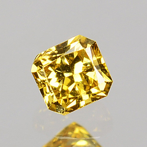 0.09 Cts Natural Untreated Diamond Golden Yellow Radiant Cut Africa