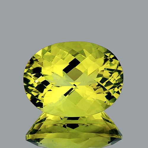 23x17 mm Oval Checker 33.10cts Lemon Quartz [VVS}