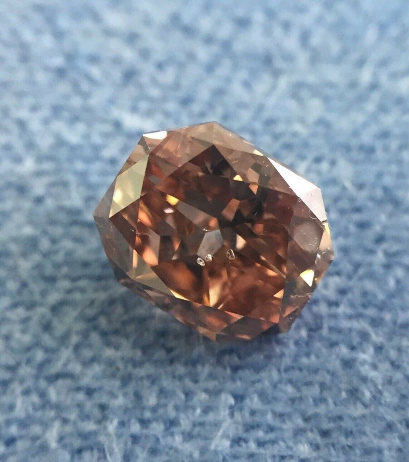 Natural Deep Pink Brown Polished Diamond