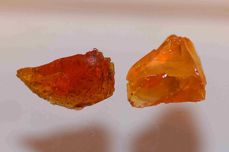 14.55ct Fire Opal 2pc rough from Madagascar