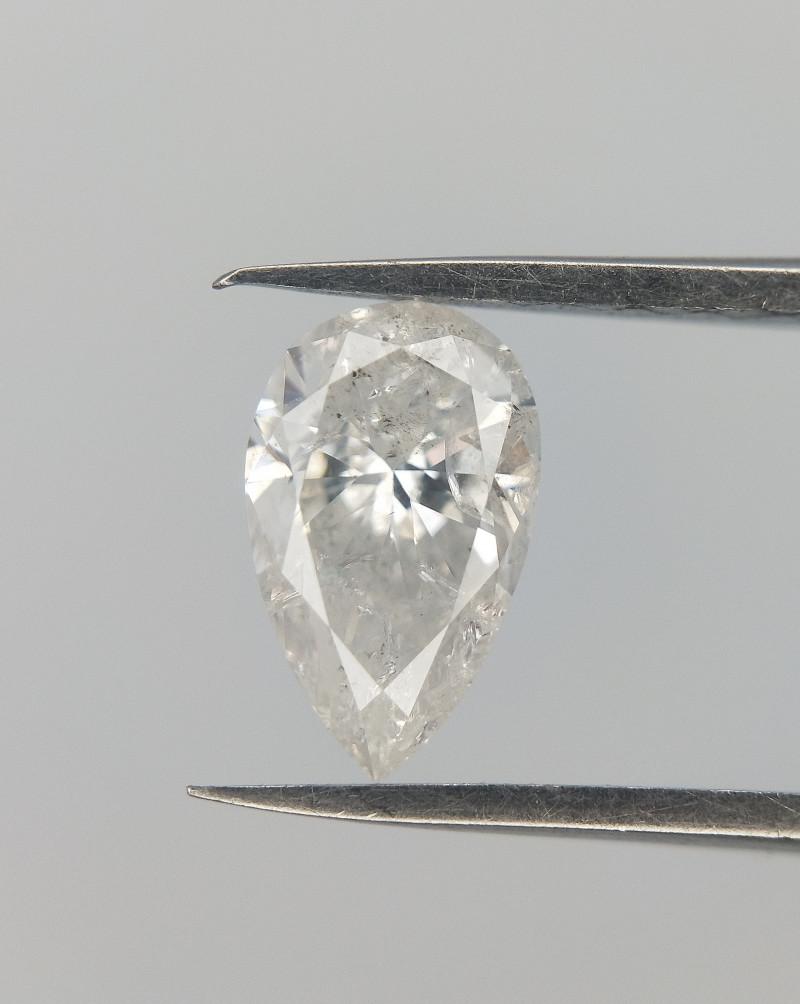 0.53 CTS ,  Pear Cut Diamond , White Diamond , Salt and pepper Diamond