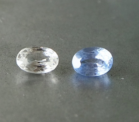 1.38ct unheated white and blue sapphire