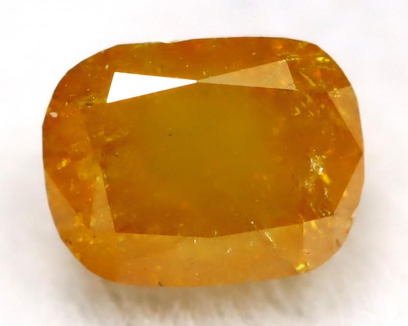 0.38Ct Natural Untreated Fancy Orangy Yellow Diamond BM0212