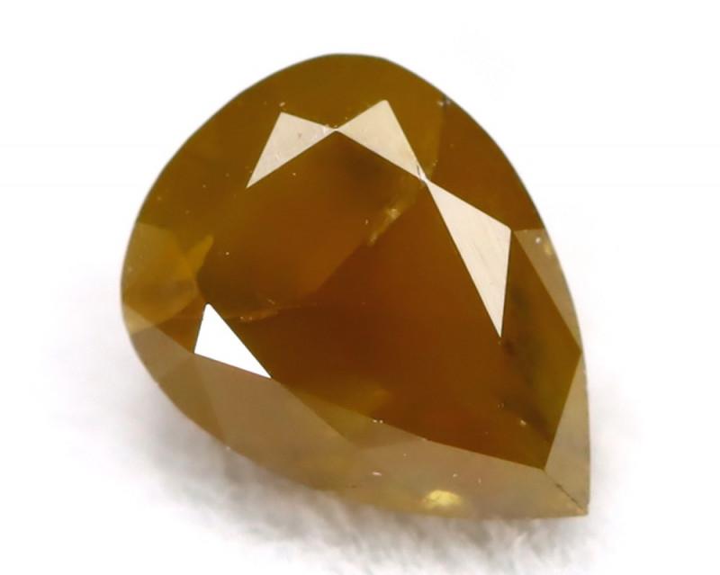 0.31Ct Natural Untreated Fancy Greyish Orange Diamond BM0216