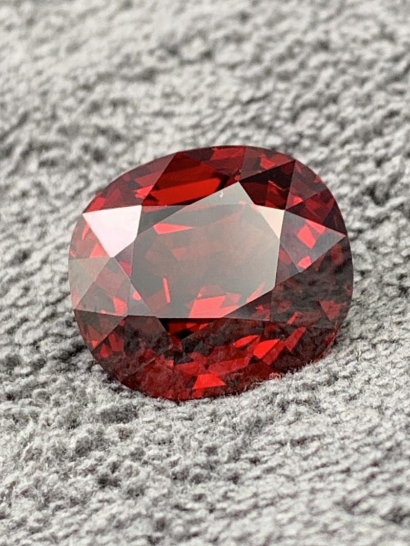 36.12 Cts Collectors Gem Vivid Red Flawless Spessartite Garnet Afghanistan