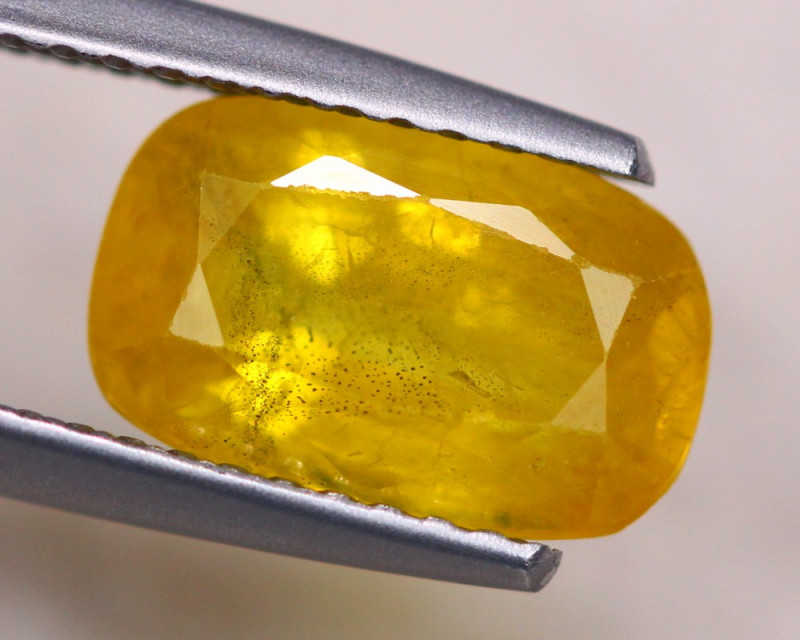 2.96ct Natural Yellow Sapphire Octagon Cut Lot S141