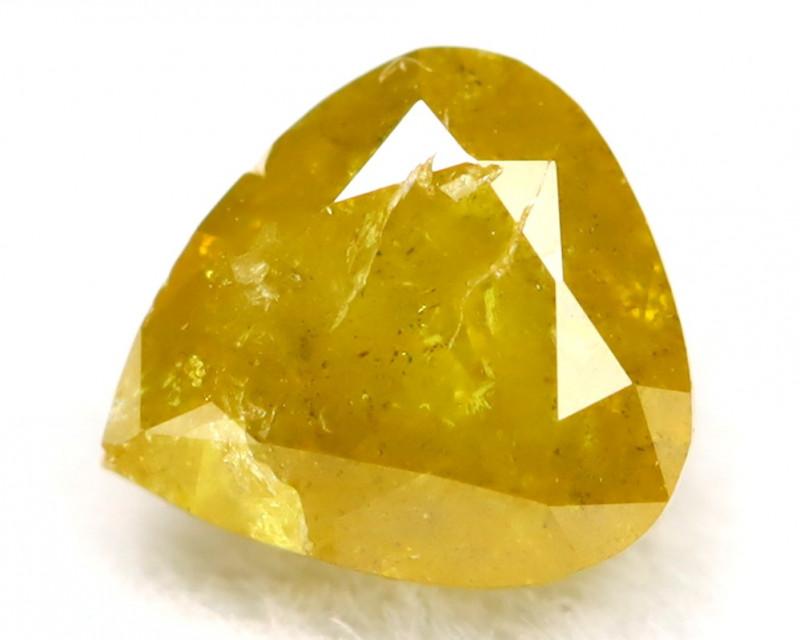 0.35Ct Natural Untreated Fancy Yellow  Diamond BM0236