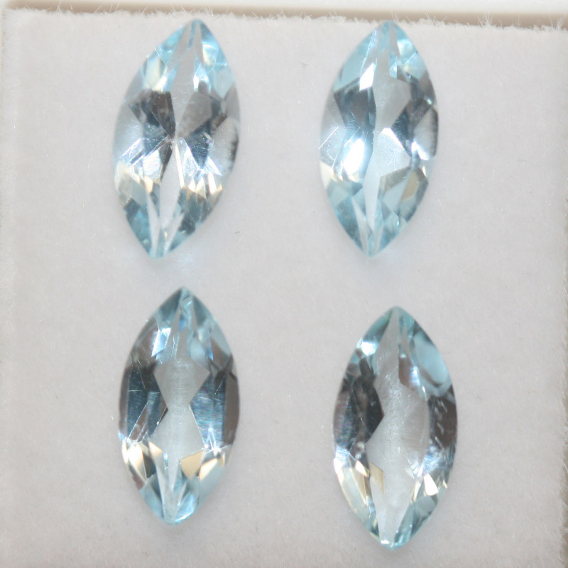 4.4 Ct Sky Blue Topaz Lot Faceted Marquise 10x5mm.(SKU 437)