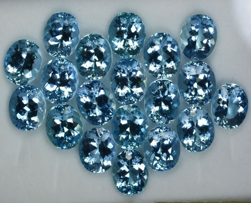 61.80Ct Natural Santa Maria Blue Aquamarine Oval 11 X 9mm Parcel