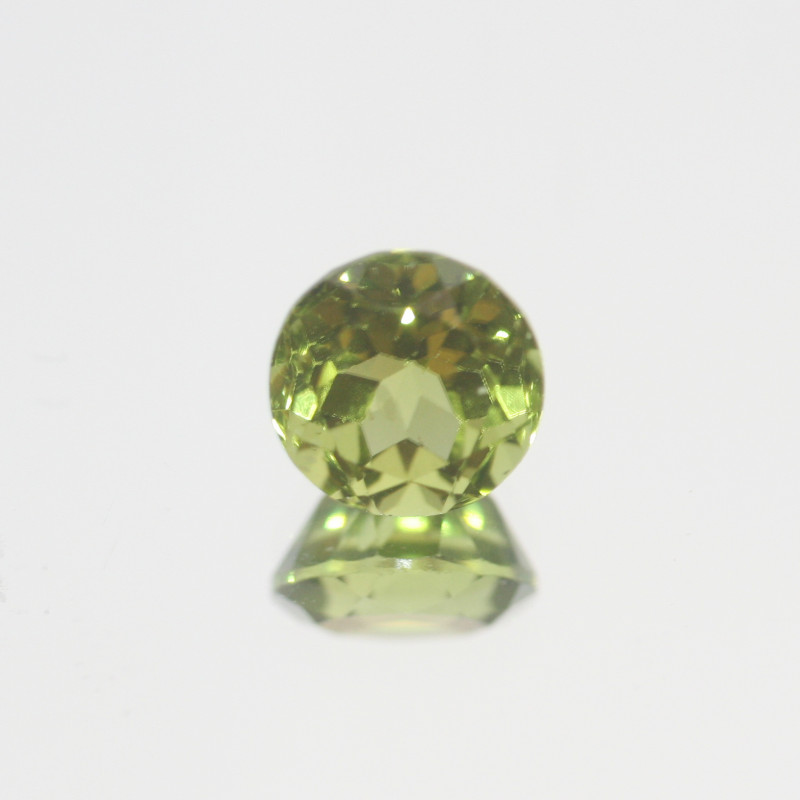 3.5 Ct Peridot  Faceted Round 8.8mm.- Olivine Green.(SKU447)