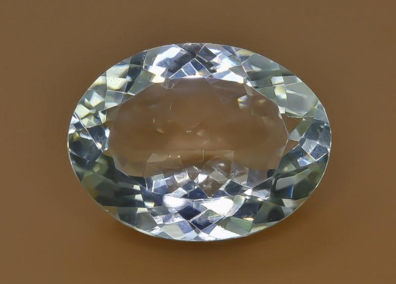 13.57 Crt Natural Green Prasiolite Amethyst Faceted Gemstone.( AB 91)