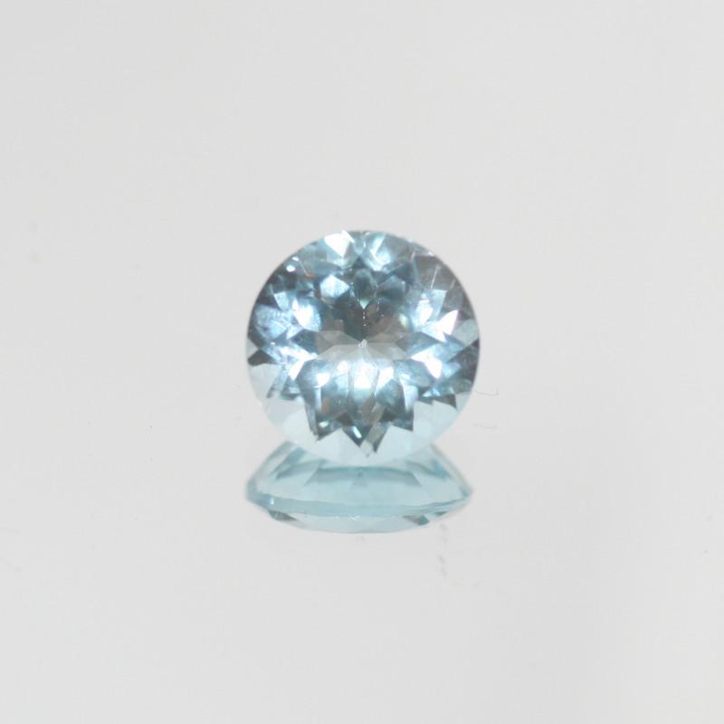4.35 Ct Sky Blue Topaz  Faceted Round 10mm.(SKU 453)