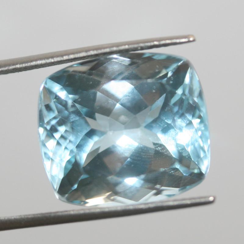 26.65 Ct Sky Blue Topaz  Faceted Rectangular 16.7x15mm.(SKU 455)
