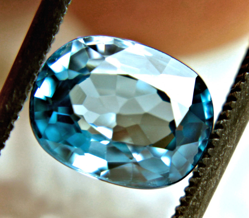 3.48 Carat VVS Blue Southeast Asian Zircon - Superb