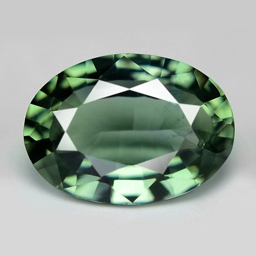 0.92 Cts Amazing Rare Natural Fancy Green Sapphire Loose Gemstone