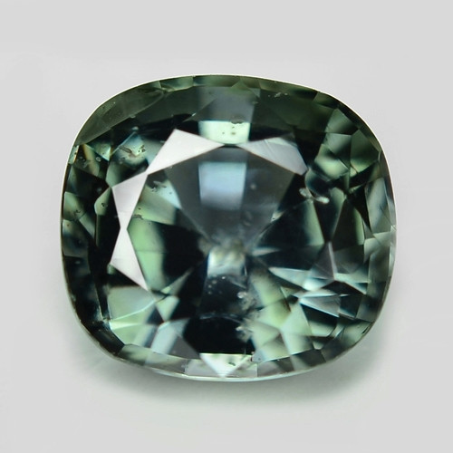 1.23 Cts Amazing Rare Natural Fancy Green Sapphire Loose Gemstone