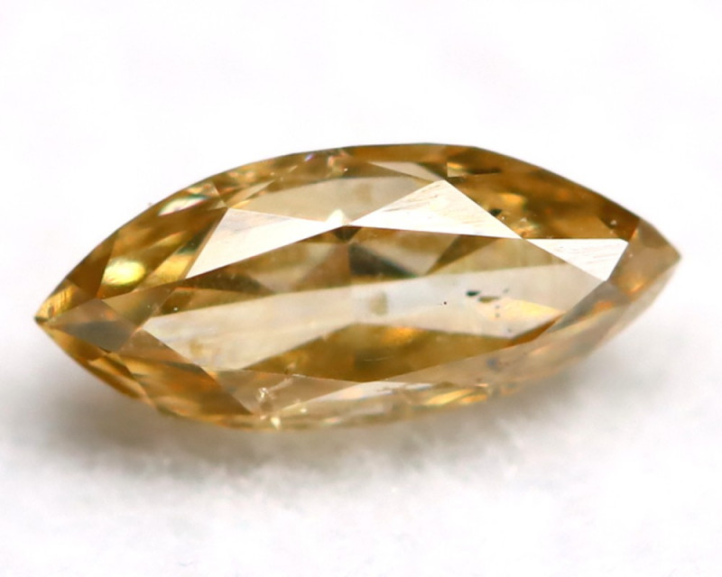 0.22Ct Natural Untreated Marquise Fancy Champagne Diamond BM0301