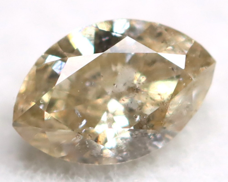 0.17Ct Natural Untreated Marquise Fancy Champagne Diamond BM0302