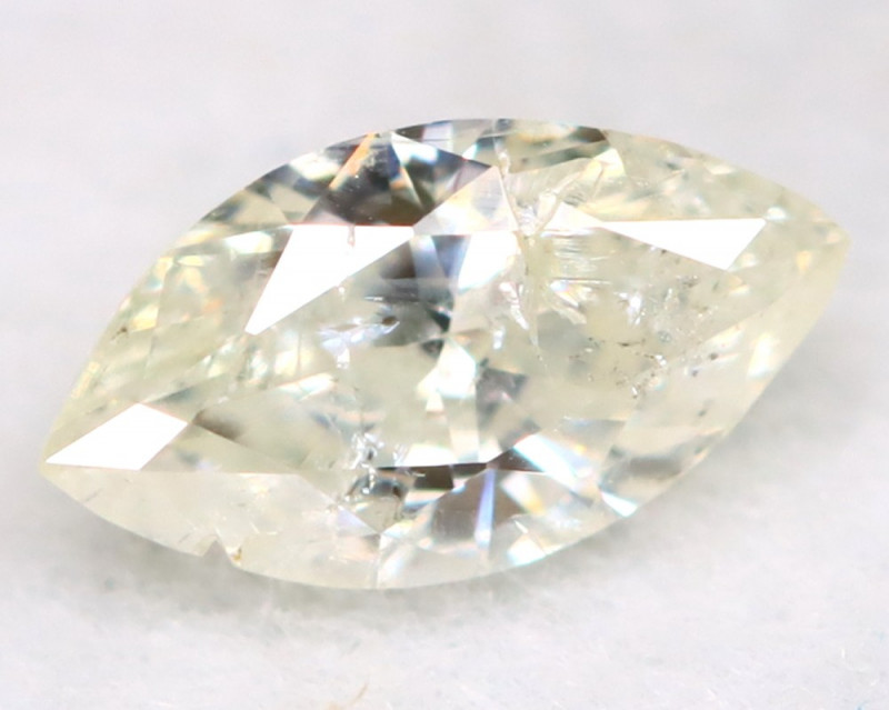 0.20Ct Natural Untreated Marquise Fancy White Diamond BM0314