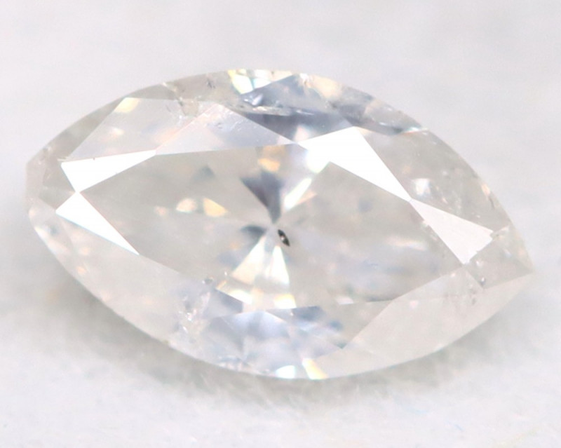 0.18Ct Natural Untreated Marquise Fancy White Diamond BM0317
