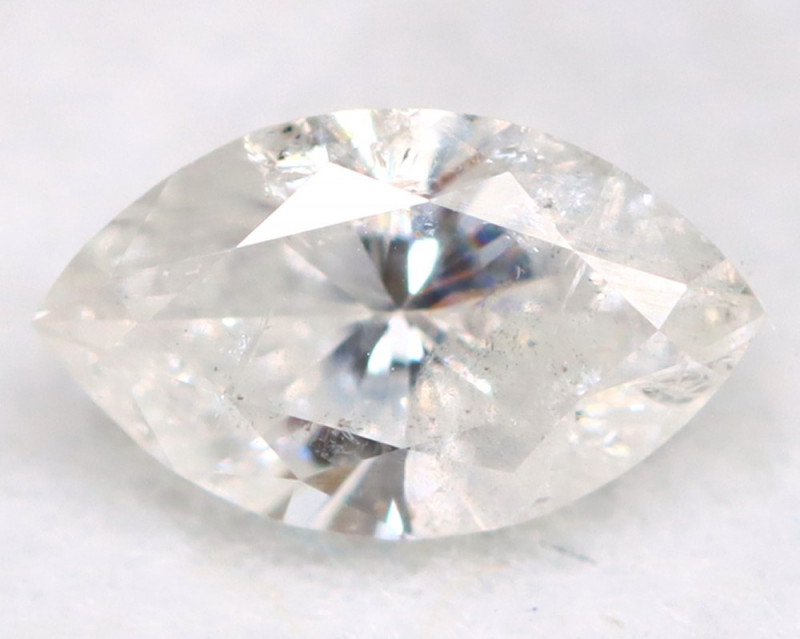 0.26Ct Natural Untreated Marquise Fancy White Diamond BM0320