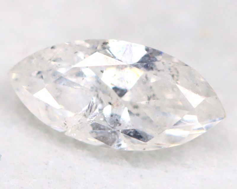 0.21Ct Natural Untreated Marquise Fancy White Diamond BM0322