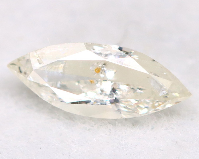 0.15Ct Natural Untreated Marquise Fancy White Diamond BM0325