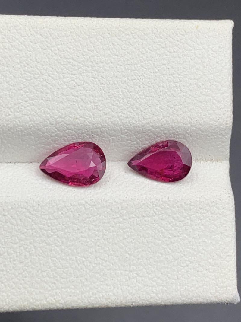 1.10 CT Natural Color  Rubellite Tourmaline Gemstone
