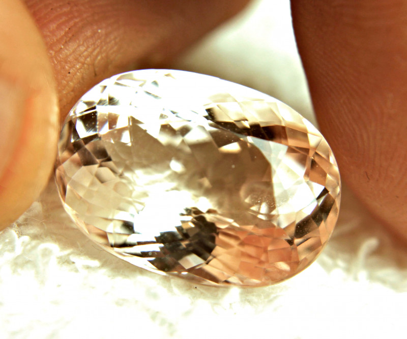 19.85 Carat Morganite.  Superb VVS Gem