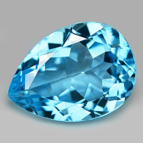 13.87 Carat Swiss Blue Natural Topaz Gemstone