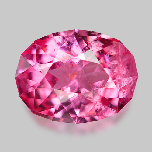 Custom precision oval cut natural pink sapphire.