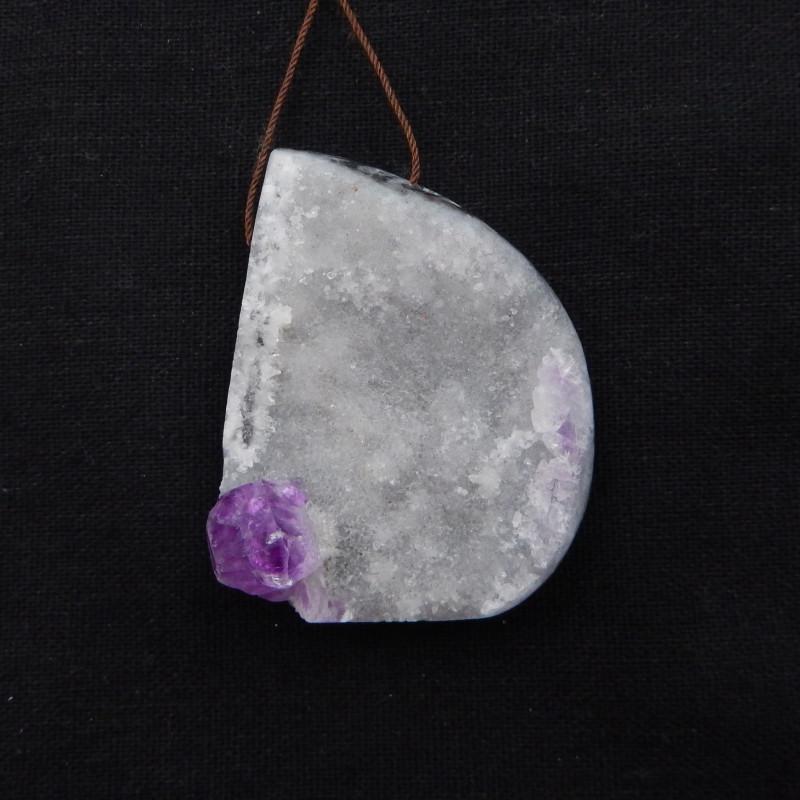 271.5cts Fluorite pendant, raw Fluorite, Druzy pendant G928