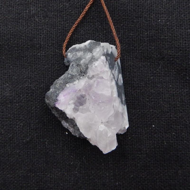99cts Fluorite pendant, raw Fluorite, Druzy pendant G933